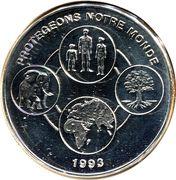 1000 francs CFA (Protégeons notre monde) – revers