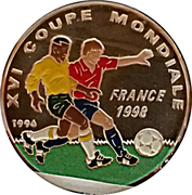 1000 francs CFA Coupe du monde de football France 1998 – revers