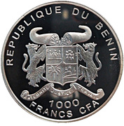1000 Francs CFA (Alfred Brehm) -  avers