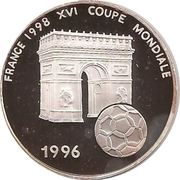 1000 francs CFA (Coupe du monde de football France 1998) – revers