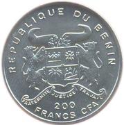 200 francs CFA (avion Hansa Brandenburg D1) – avers