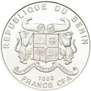 1000 francs CFA (Cannabis Sativa) -  avers