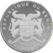 1000 francs CFA (Jeux olympiques Sydney 2000) – avers