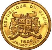 1500 francs CFA Le Penseur – avers