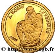 1500 francs CFA Le Penseur – revers