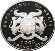 1000 francs CFA (Léopard) – avers