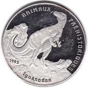 1000 francs CFA (Iguanodon) – revers