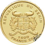 1500 francs CFA (Léopard) – avers