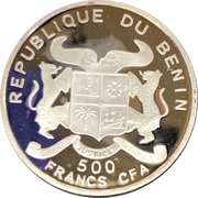 500 francs CFA (Mahatma Gandhi) – avers