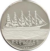 1000 francs CFA (Voilier Preussen) – revers