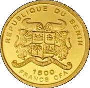 1500 francs CFA La Statue de David – avers