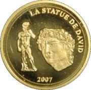 1500 francs CFA La Statue de David – revers
