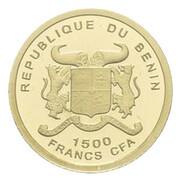 1500 francs CFA (50e anniversaire du décès de John F. Kennedy) – avers