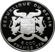 6000 francs CFA (Éléphant) – avers