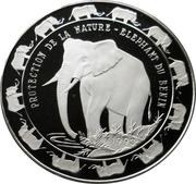 6000 francs CFA (Éléphant) – revers