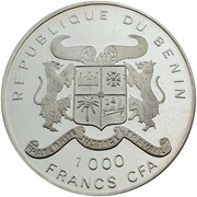 1000 francs CFA (Renouveau démocratique) – avers