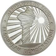 1000 francs CFA (Renouveau démocratique) – revers