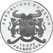 15 000 francs CFA (Faux-gavial d'Afrique) – avers