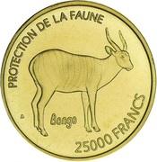 25 000 francs CFA (Bongo, essai) – revers