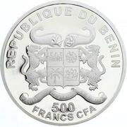 500 Francs CFA  (Pape Pie XII - colorisé) – avers
