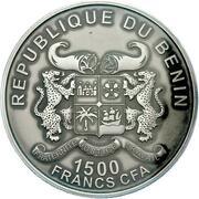 1500 Francs CFA (Éléphant de forêt d'Afrique) – avers