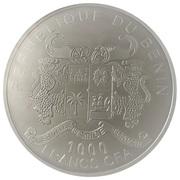 1000 francs CFA (Dirigeable de Jules Verne) – avers