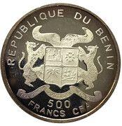 500 francs CFA (Junkers JU 52) – avers