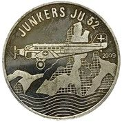 500 francs CFA (Junkers JU 52) – revers