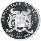 100 francs CFA (Rosa Indica Fragrans) – avers