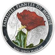 100 francs (Rosa Indica Fragrans) – revers