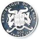 500 francs CFA (Ferdinand Graf Von Zeppelin) – avers