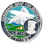 500 francs CFA (Ferdinand Graf Von Zeppelin) – revers
