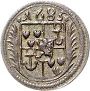 1½ Pfennig - Johann Adolph – avers