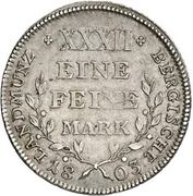 ½ Thaler - Maximilian Joseph IV. – revers