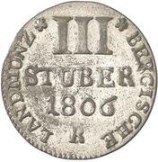 3 Stuber - Maximilian IV Joseph – revers