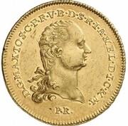 1 thaler Maximilian Joseph IV (Frappe essai en or) – avers