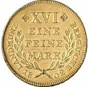 1 thaler Maximilian Joseph IV (Frappe essai en or) – revers