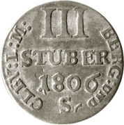 3 Stüber - Joachim Murat – revers