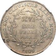 1 Reichsthaler - Joachim Murat – revers