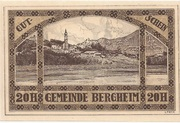 20 Heller (Bergheim) – revers