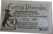 50 PFENNIGE  ( Berlin ) – avers