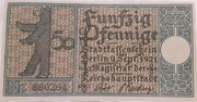 50 Pfennig (Berlin; Districts Series - Issue 7: Spandau – avers