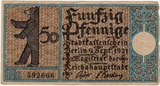 50 Pfennig (Berlin; Districts Series - Issue 16: Köpenick – avers