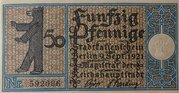 50 Pfennig Berlin; Districts Series - Issue 13: Tempelhof -  avers