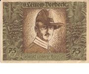 75 Pfennig (Berlin; Deutsch-Hanseatischer Kolonialgedenktag - :V. Lettow-Vorbeck) – revers