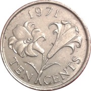 10 Cents - Elizabeth II (2eme effigie) -  revers