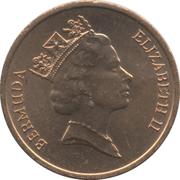 1 cent - Elizabeth II (3eme effigie, Magnétique) – avers