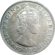 1 Crown - Elizabeth II (1ère effigie) – avers