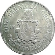 1 Crown - Elizabeth II (1ère effigie) -  revers