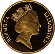 1 cent - Elizabeth II (Essai or) – avers